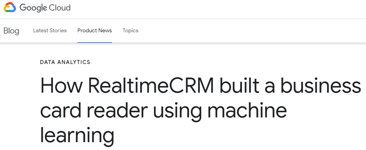 RealtimeCRM google cloud